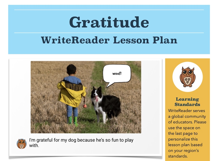 gratude lesson plan