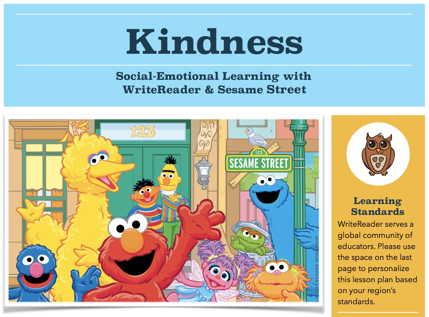 Kindness lesson plan