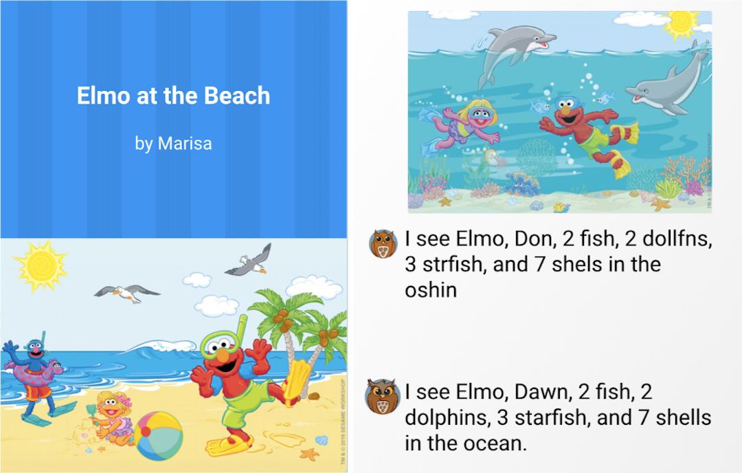 writereader book about elmo